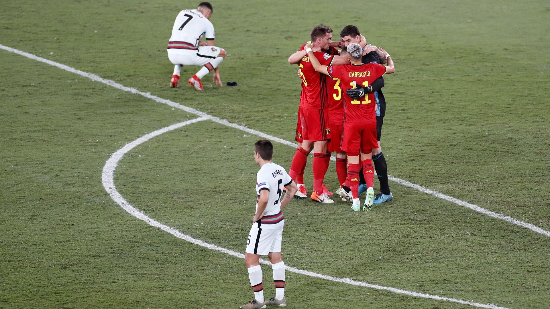 Шампионът сдаде трона, Белгия отстреля Португалия с един удар