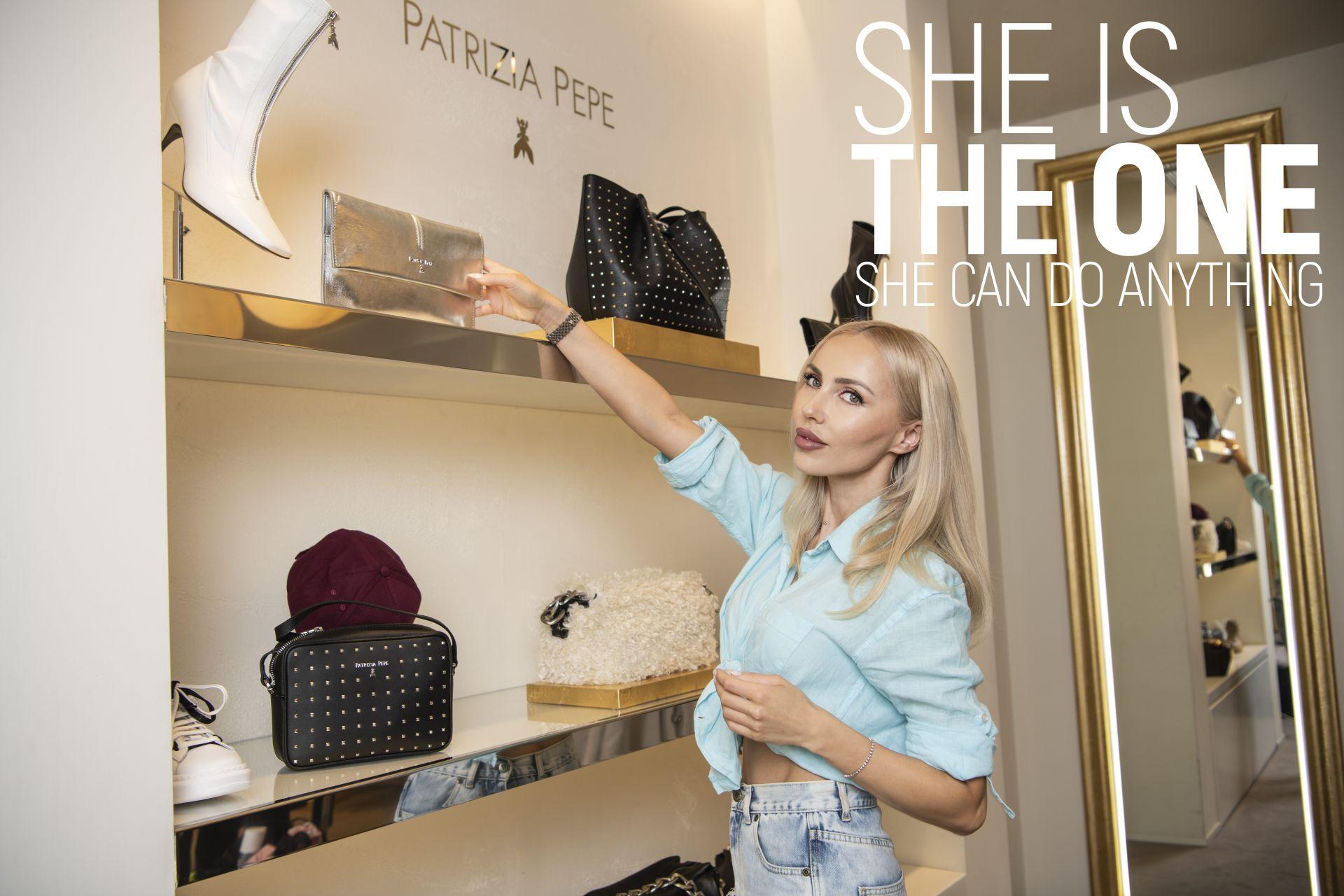 Жасмин Маджид в магазина на Patrizia PEPE