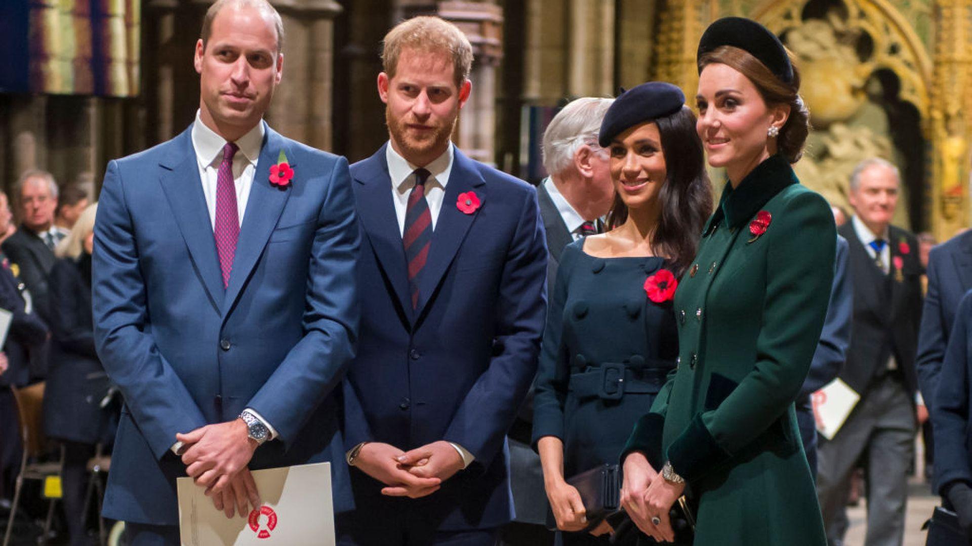 Принц Уилям, принц Хари, Меган Маркъл и Кейт Мидълтън