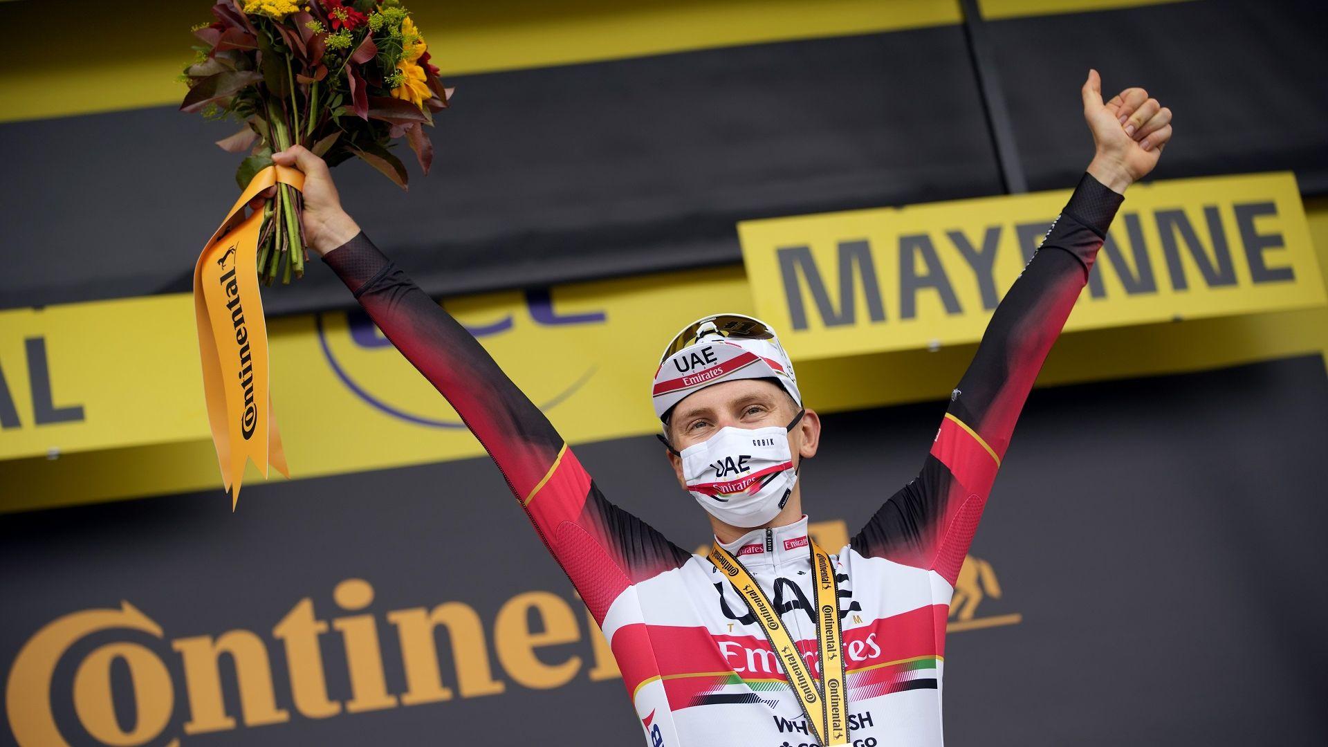 """Шампионът Погачар изпревари всички на първия часовник в """"Тур дьо Франс"""""""