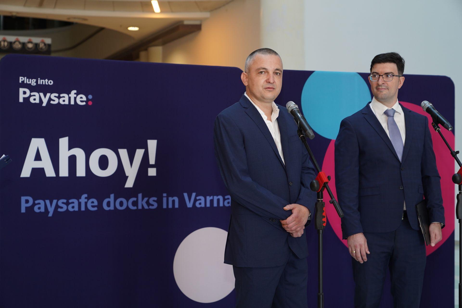 Иван Портних, кмет на град Варна, Фжакомо Остин, директор на офиса на Paysafe във Варна