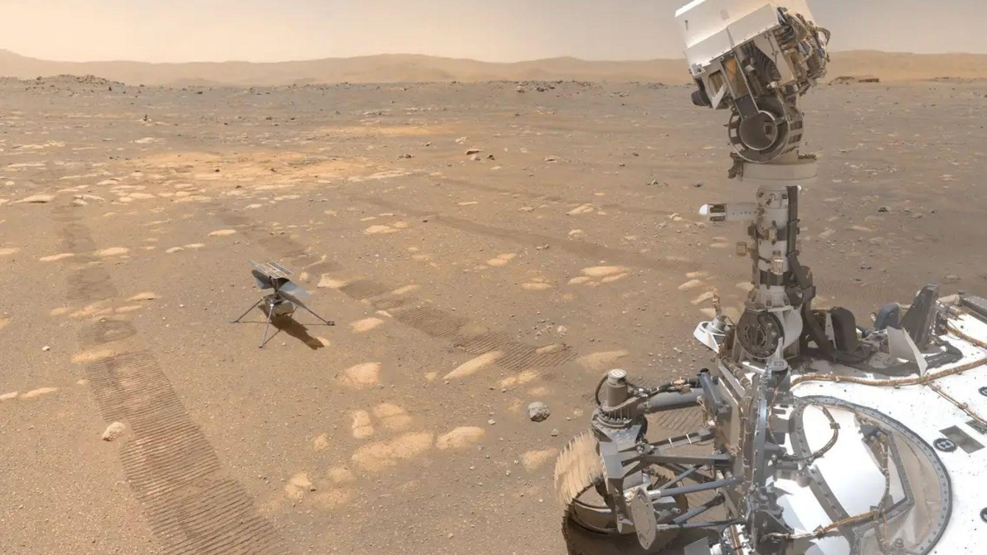 """Марсианският дрон """"Инджинюъти"""" с пореден успешен полет"""