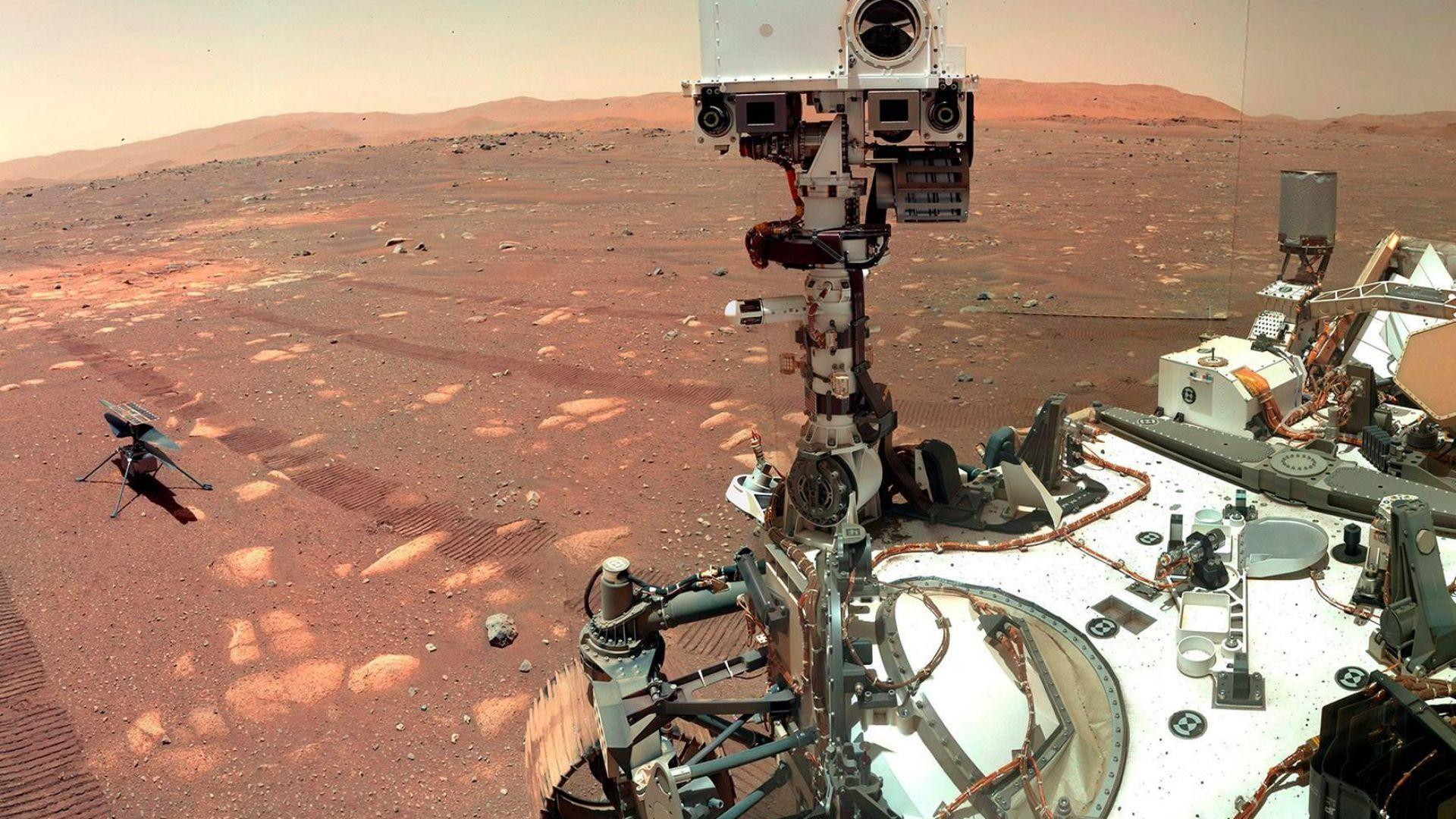 НАСА показа впечатляващи нови кадри от Червената планета