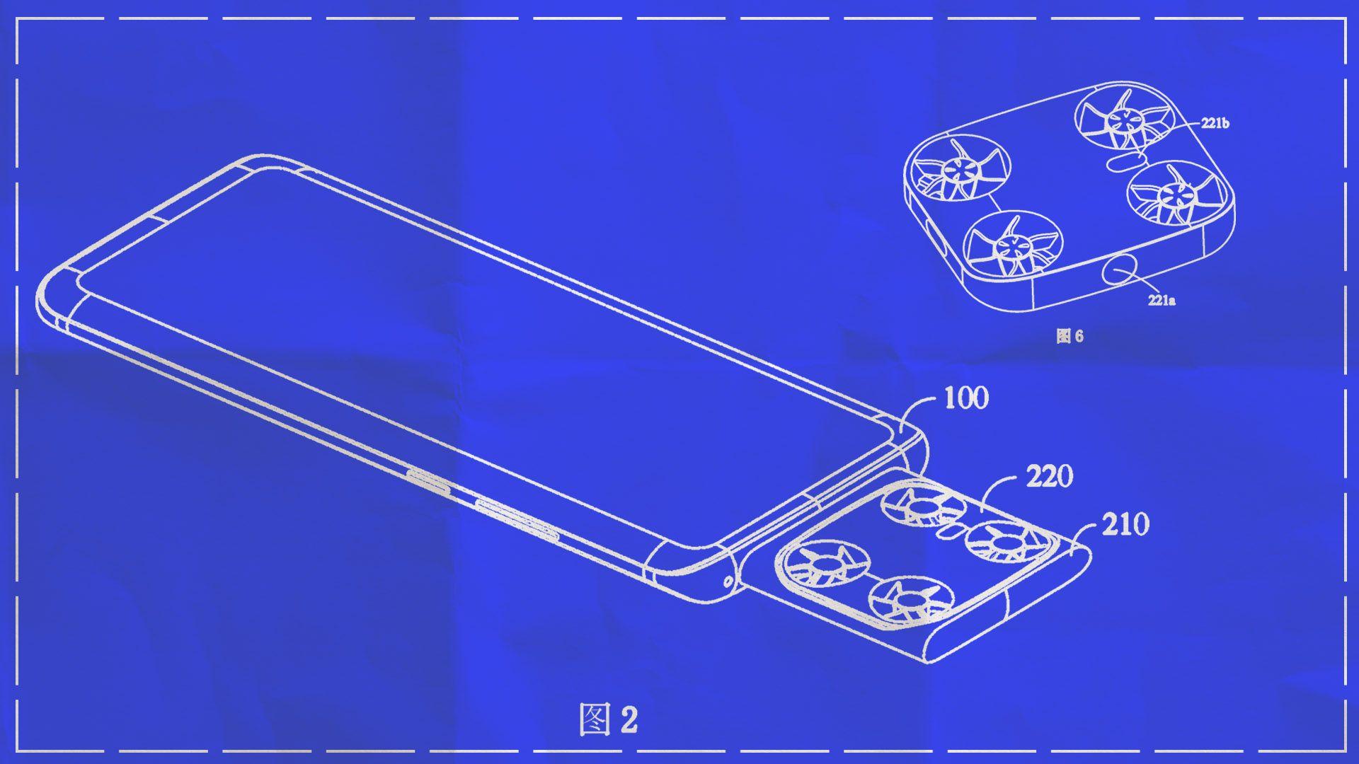 Vivo патентова смартфон с камера дрон