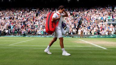 """Федерер бе занулен и напуска """"Уимбълдън"""" по тъжен начин"""