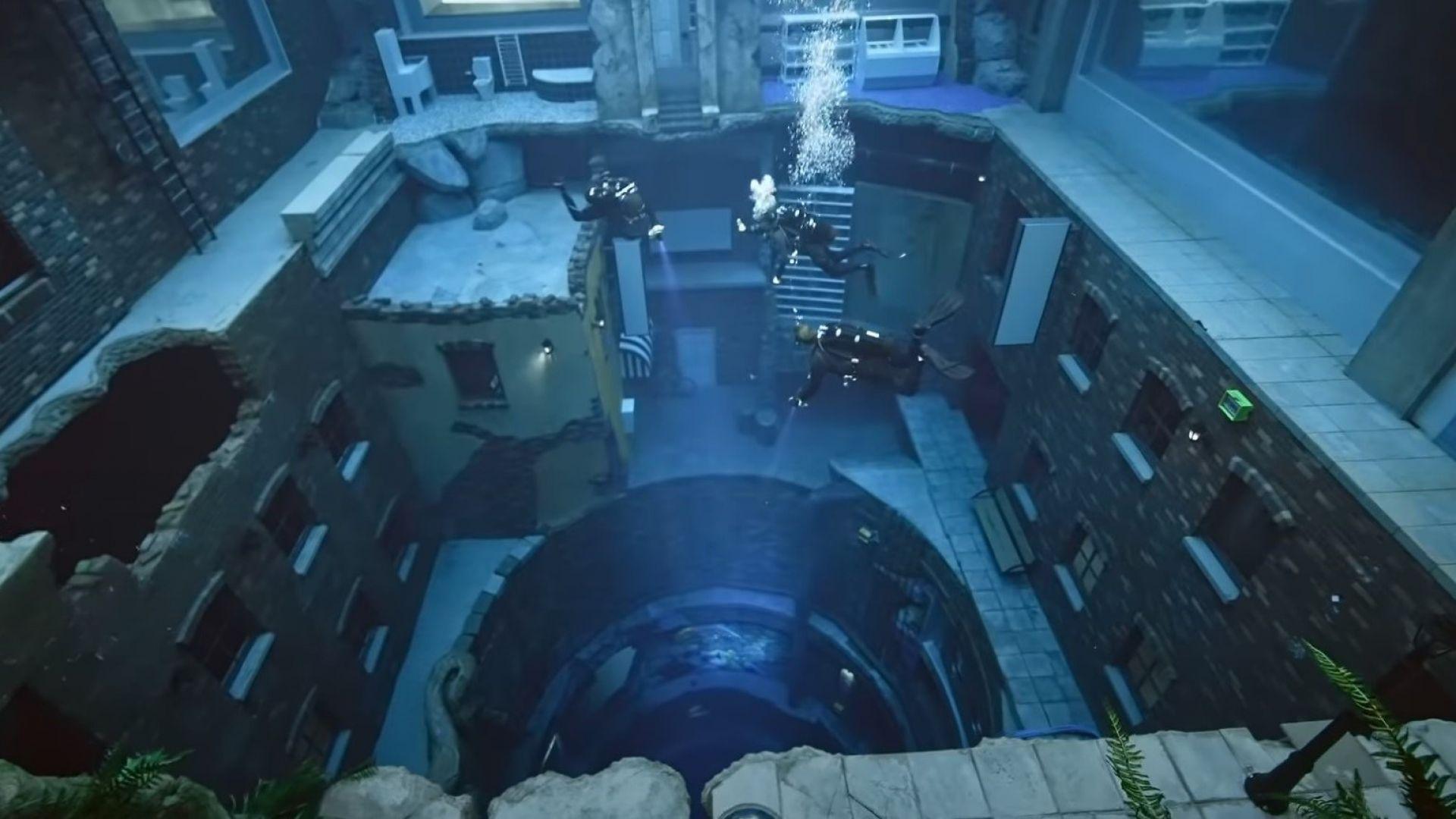 Рекорд на Гинес: Най-дълбокият басейн в света има подводен град (видео)