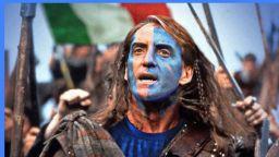 Шотландски вестник превърна Манчини в Уилям Уолъс и го помоли: Спаси ни!