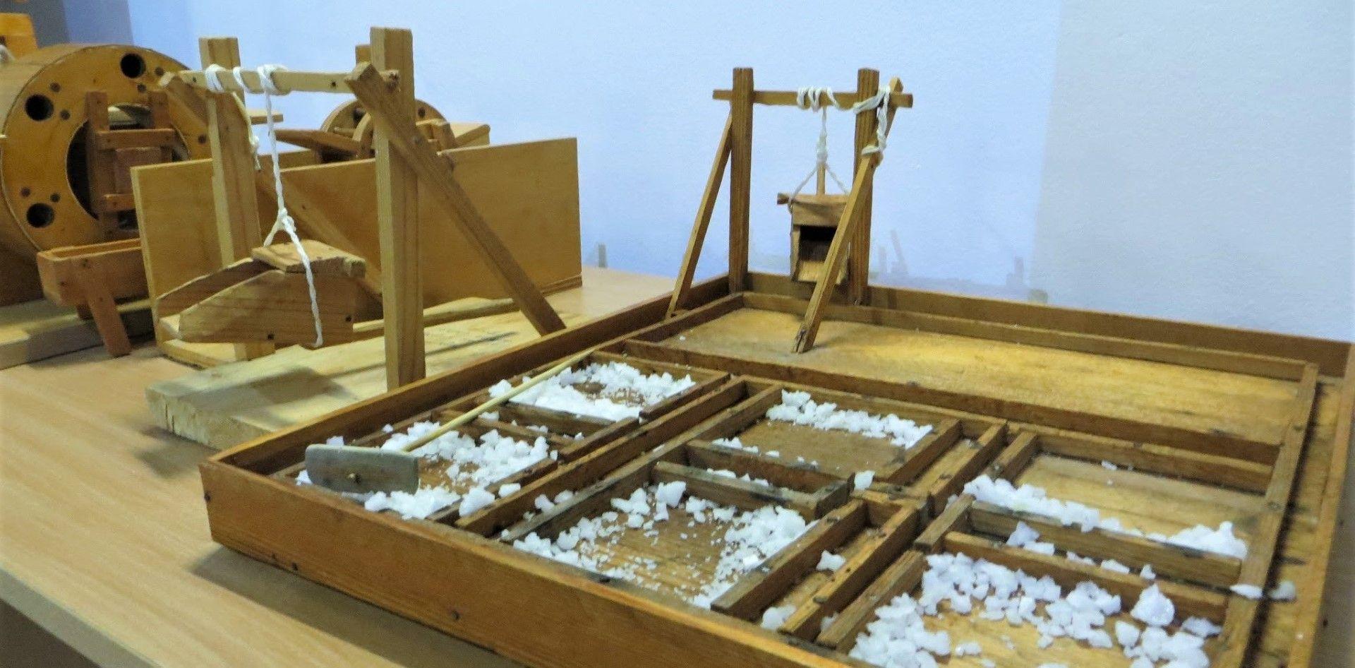 Умален модел в Музея на солта в Поморие