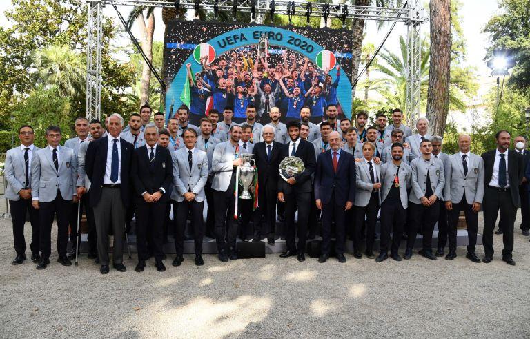 """Шампионите първо отидоха в президентския дворец """"Куиринале"""" при държавния глава Серджо Матарела"""