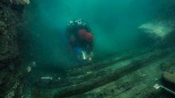 Откриха военен кораб и гръцки гробници в потъналия град Тонис-Хераклион