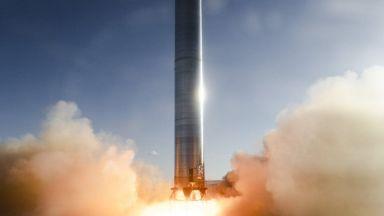Първото статично изпитание за Super Heavy на SpaceX