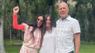 Деми Мур и Брус Уилис отпразнуваха заедно рождения ден на дъщеря си