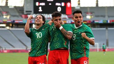 Мексиканците разбиха Франция на старта на футболната Олимпиада