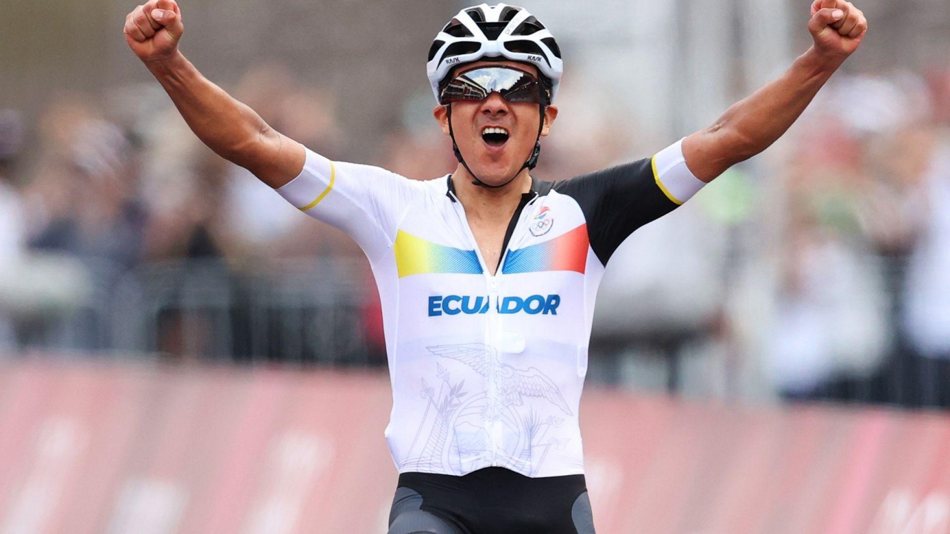 Големият колоездачен катерач Карапас донесе втора олимпийска титла на Еквадор