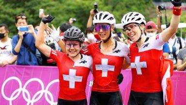 Перфектният подиум, Швейцария обра медалите в планинското колоездене