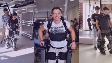 Французин направи екзоскелет, за да помогне на сина си да проходи