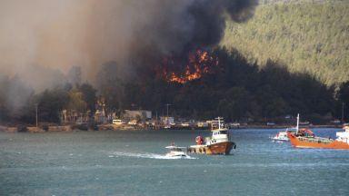 Големи пожари бушуват в осем окръга в Южна Турция