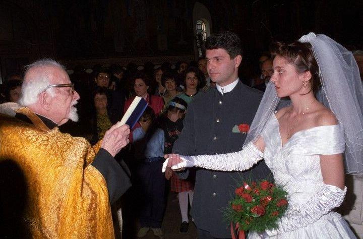 """1 октомври 1995 г. Сватбата с Йорданка Начева в столичната църква """"Св. Седмочисленици"""""""