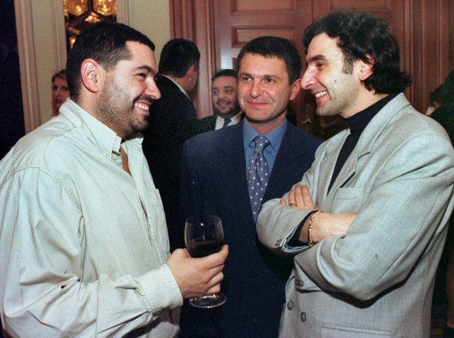 16 декември 2003 г. С Нико Тупарев и Мартин Захариев (вдясно)