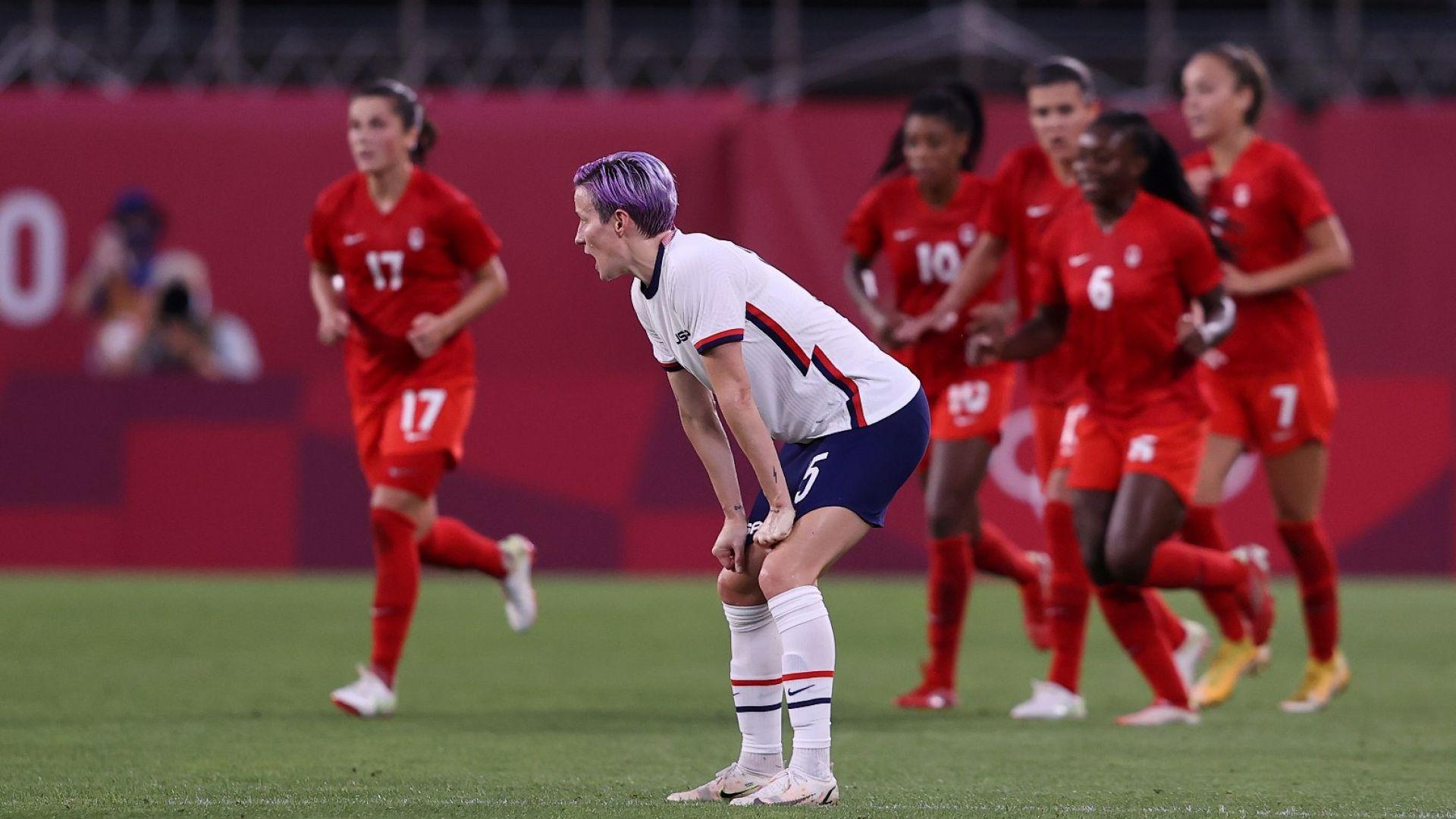 Американките шокиращо бяха сразени от Канада във футболния турнир