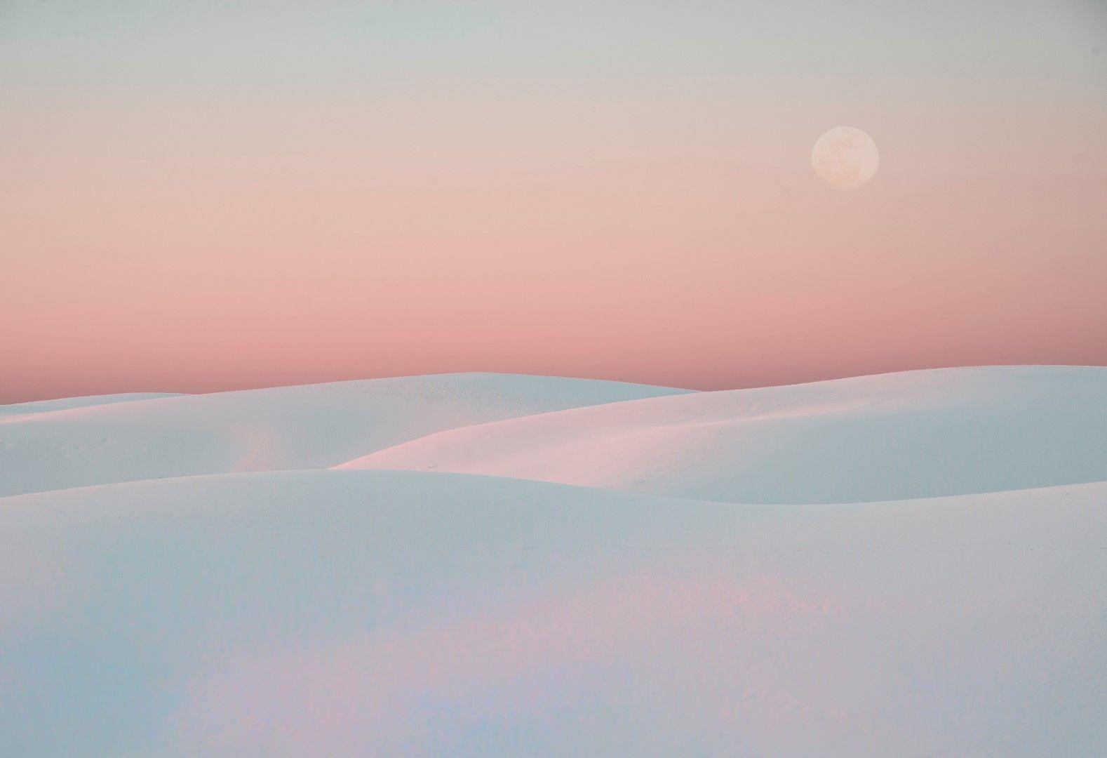Национален парк Уайт сендс (Белите пясъци) в САЩ.
