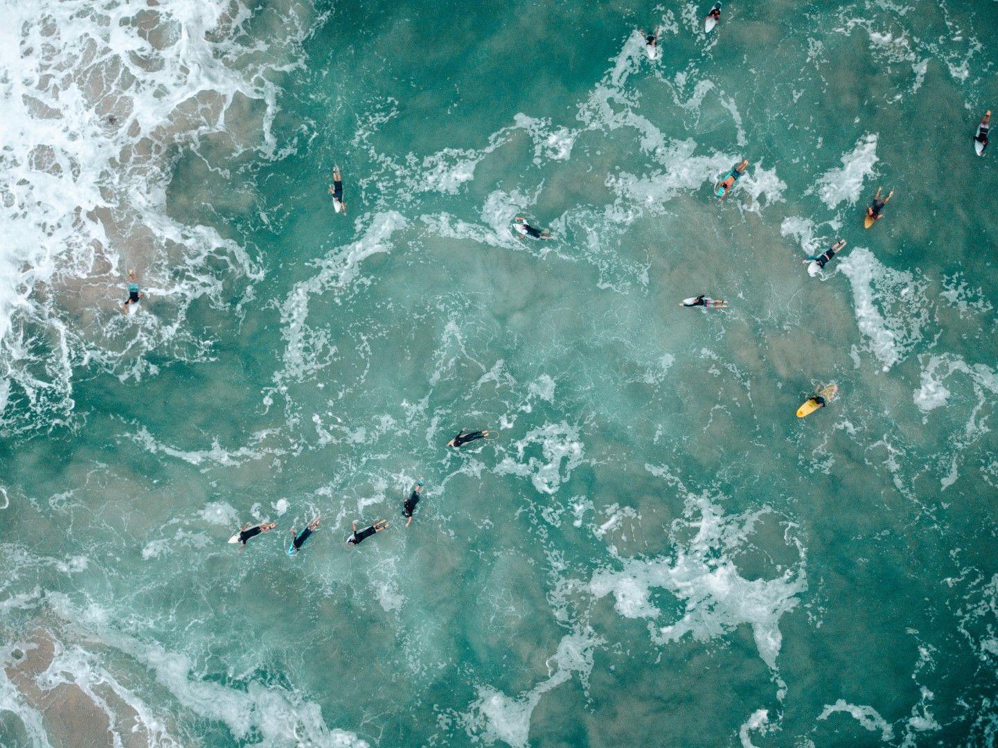 Сърфисти на Златния бряг в Австралия.