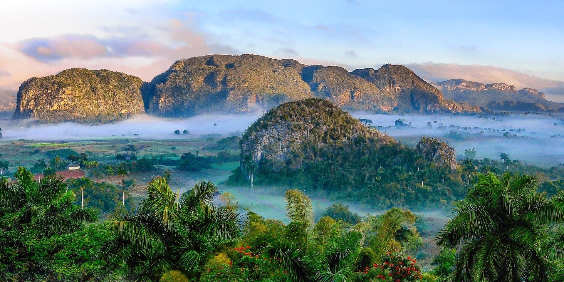 Възвишения и джунгла в Куба.