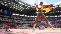 """Германката Михамбо затвърди """"Голям шлем"""" с титла в скока на дължина"""