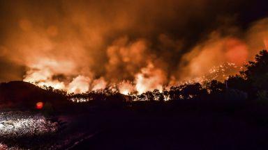 Десет пожара продължават да бушуват в Турция, има жертви (снимки)