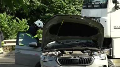 Тежка катастрофа между ТИР и кола на пътя Русе-Разград завърши с две жертви