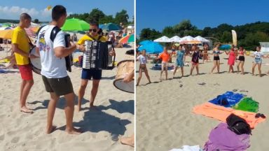 Кръшно хоро на плажа в Приморско стана хит в социалните мрежи (видео)
