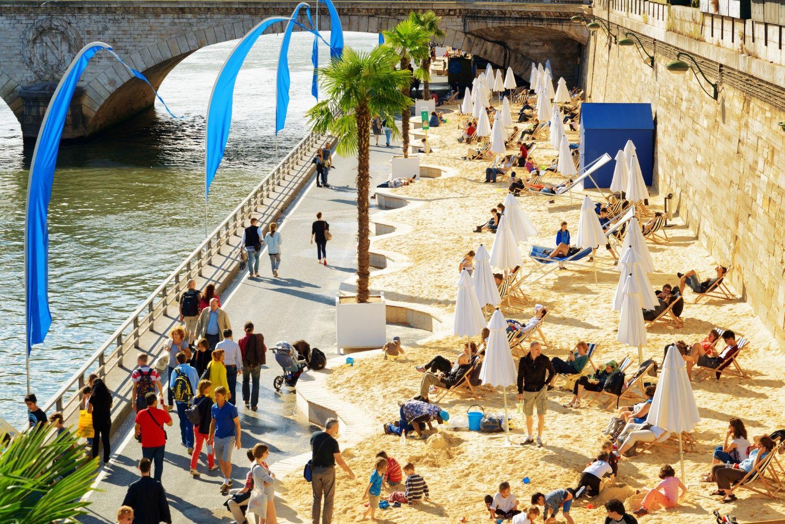 Плажът на брега на Сена в Париж