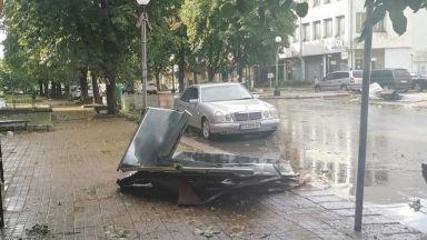 Ураганен вятър и проливен дъжд нанесоха щети в община Тервел
