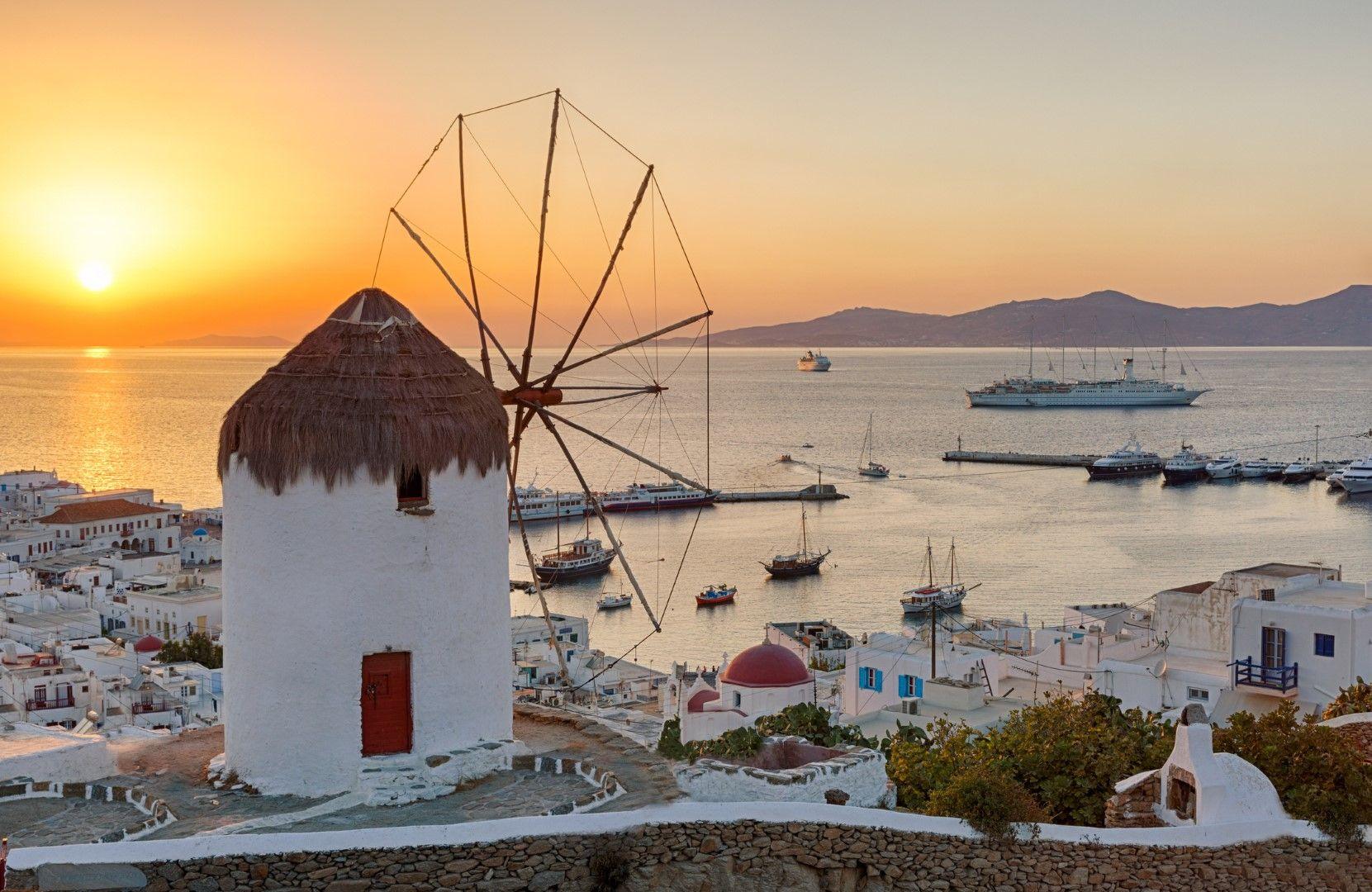 Залез на остров Миконос