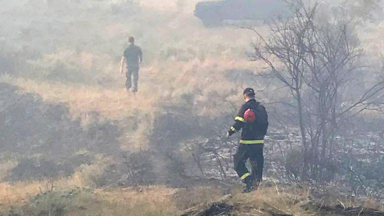 Пожарът край санданското село Петрово, при който загинаха двама горски