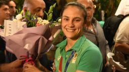 Шампионката Ивет Горанова се прибра у дома с: България над всичко!
