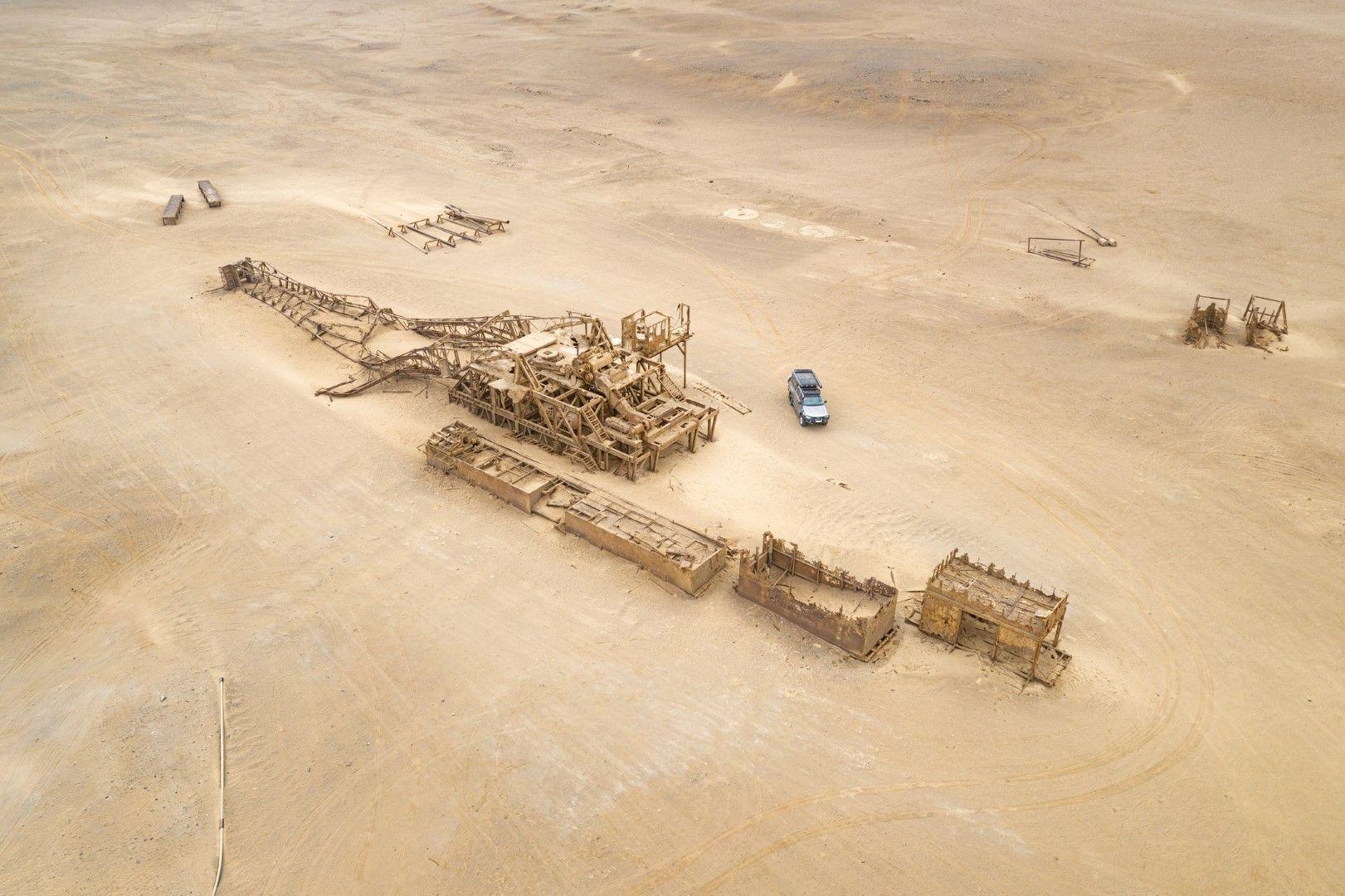Корабокруширал кораб на Брега на скелетите