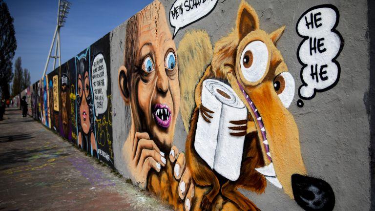 Останките от Берлинската стена 60 г. след създаването ѝ:  Стрийт арт и факти