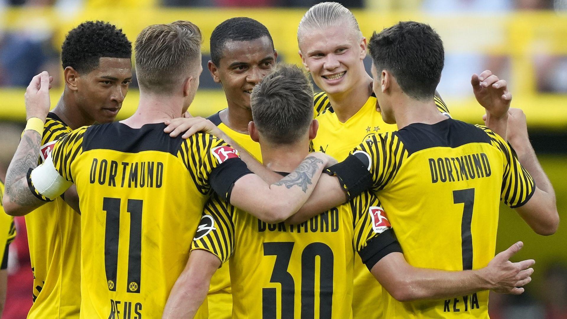 """Страховит Дортмунд тръгна с пет гола и зарадва """"жълтата стена"""" (резултати)"""