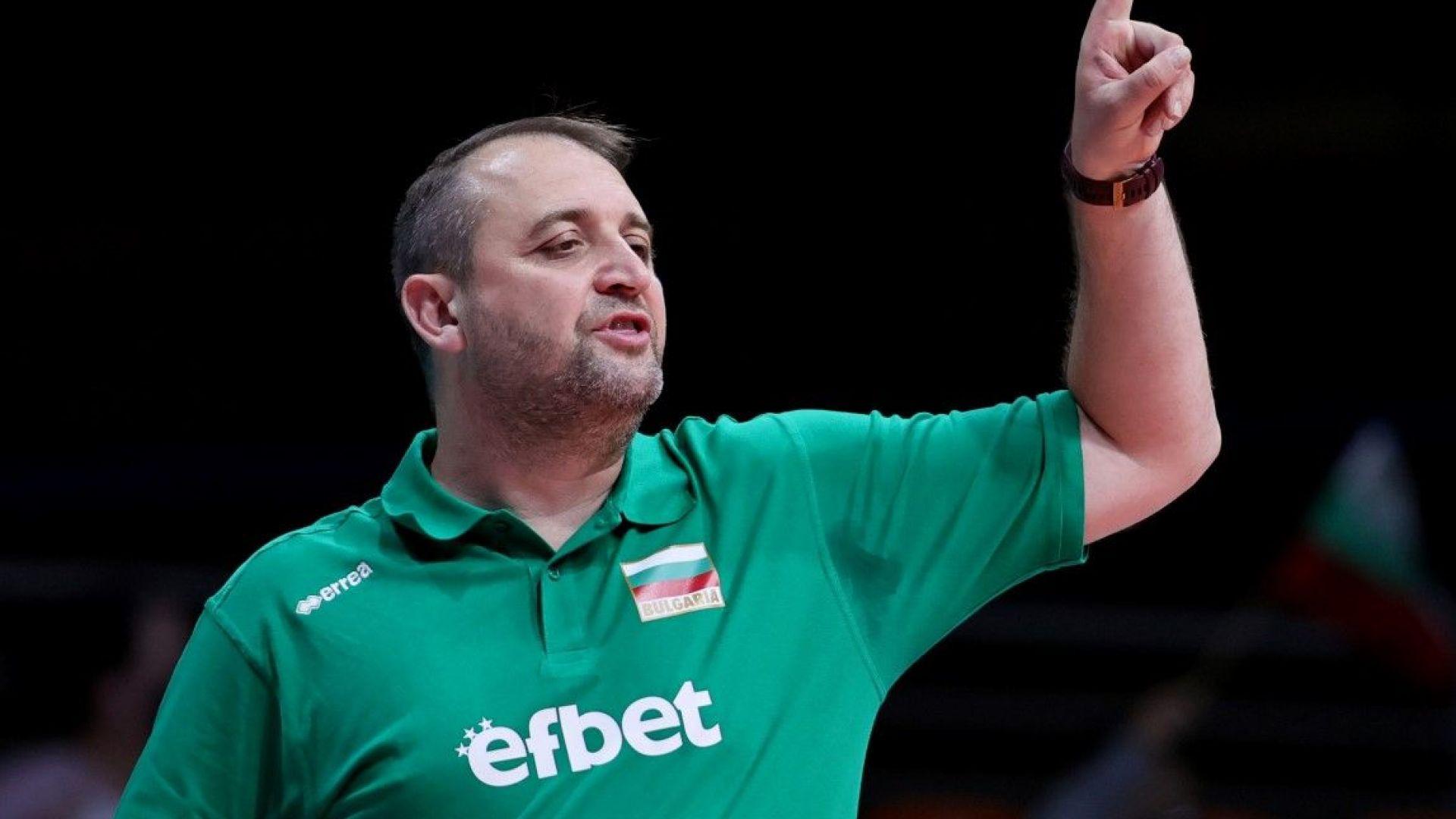 Треньорът на волейболистките Иван Петков: Хората очакват позитивни емоции от нас
