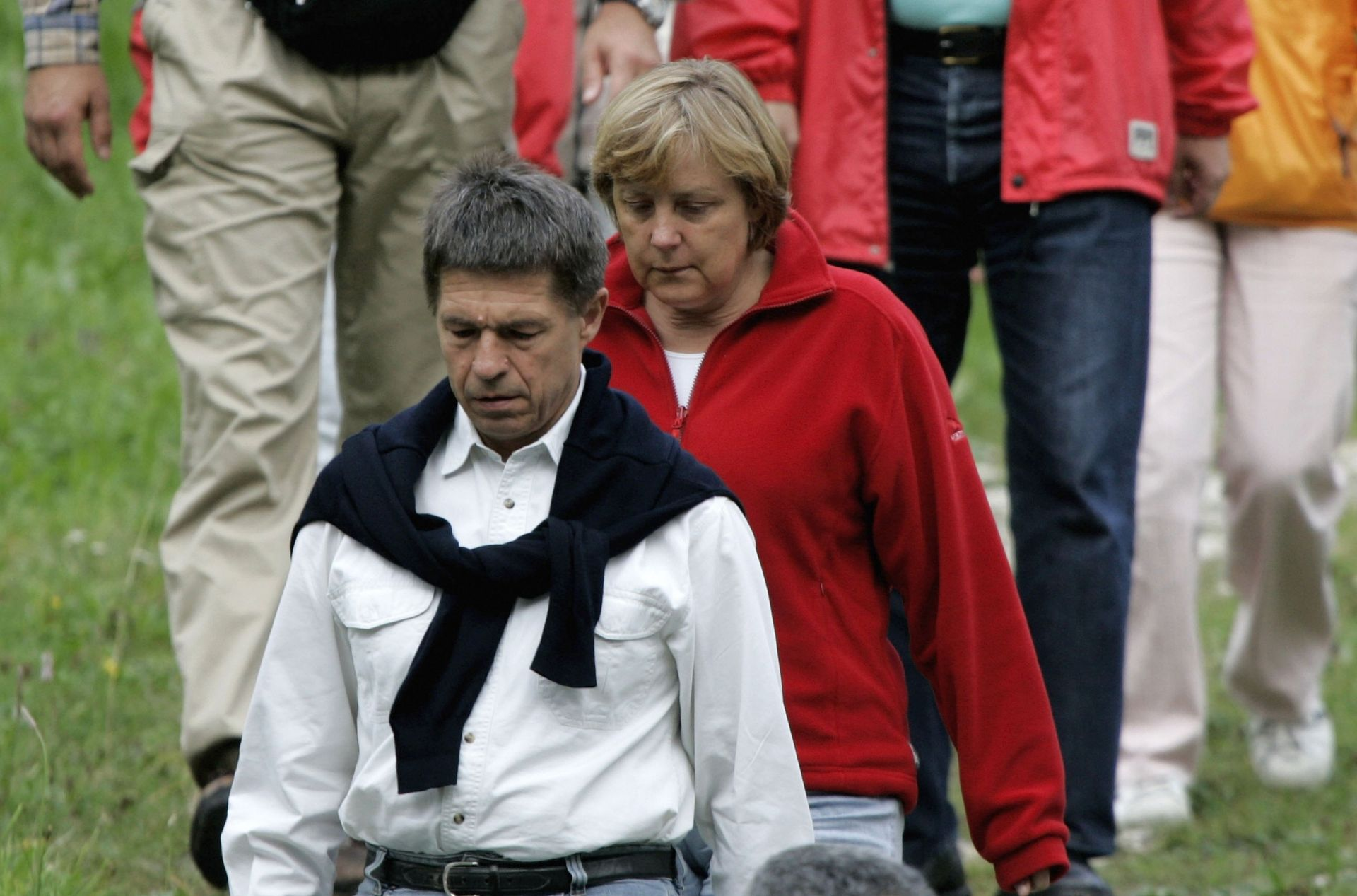 Германският канцлер Ангела Меркел и съпругът й Йоахим Зауер - архивна снимка