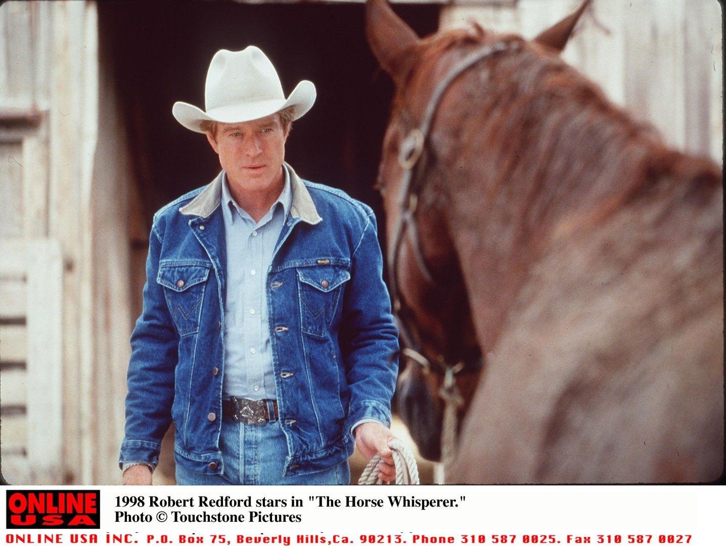 """Робърд Редфорд в """"Повелителят на конете"""" през 1998 г."""