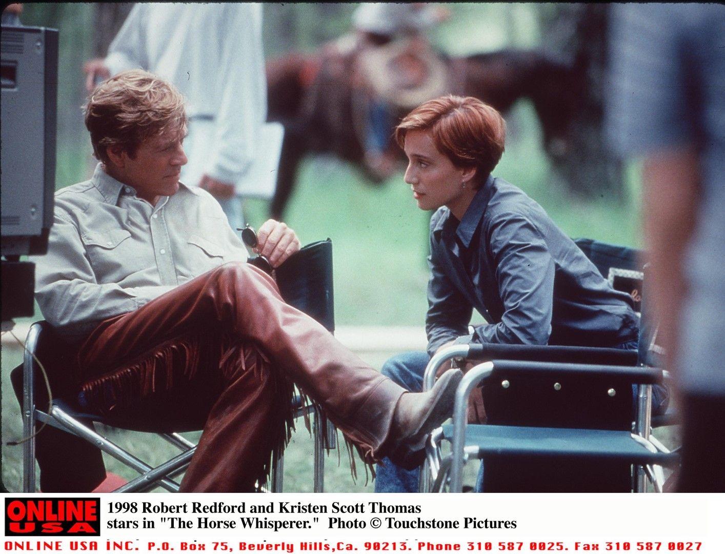 """Робърт Редфорд и Кристен Скот Томас в """"Повелителят на конете"""" (1998)"""