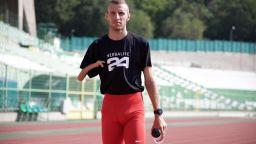 Световният шампион на 1500 м Християн Стоянов се готви за победа