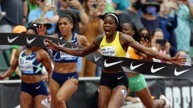 Олимпийската шампионка на 100 метра даде второто най-добро време в историята