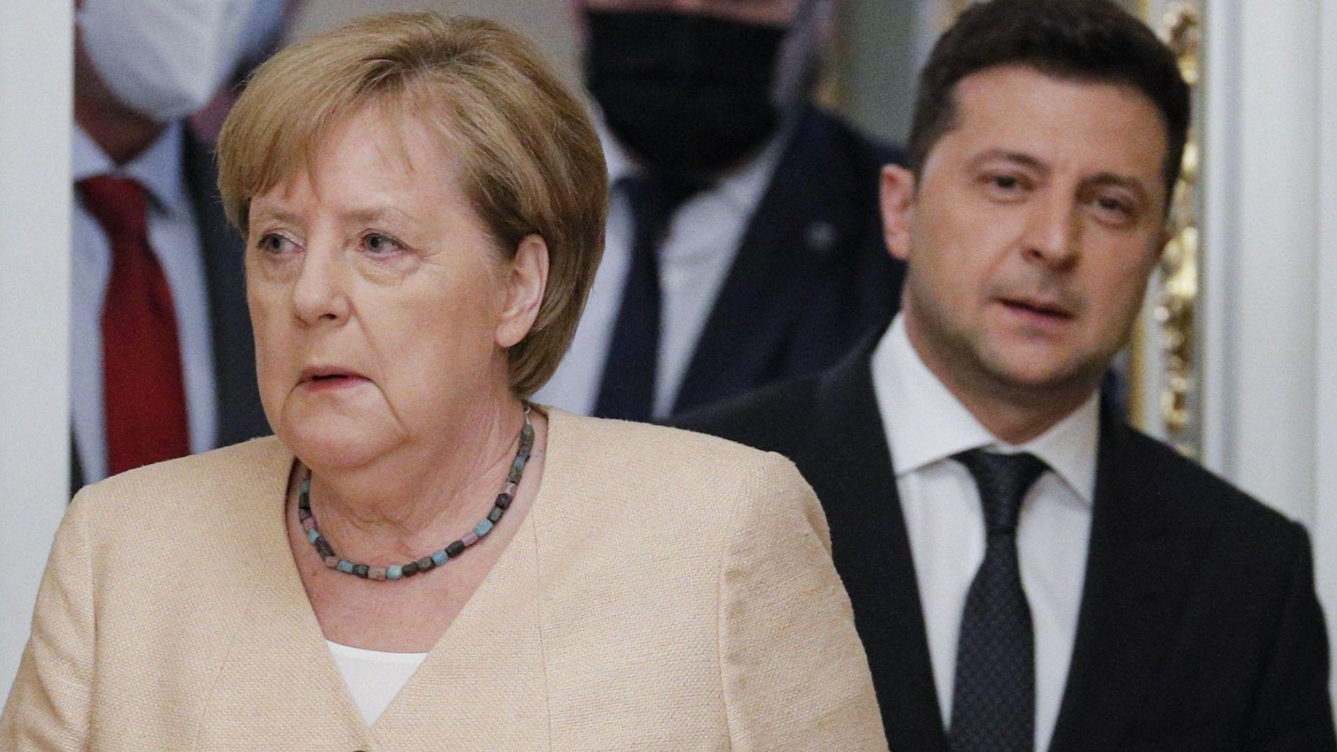"""Зеленски пред Меркел: """"Северен поток-2"""" е опасно руско геополитическо оръжие"""