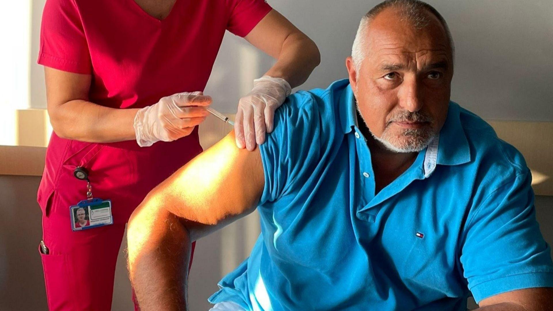 Бойко Борисов получи и втората доза ваксина, призова за по-масово ваксиниране