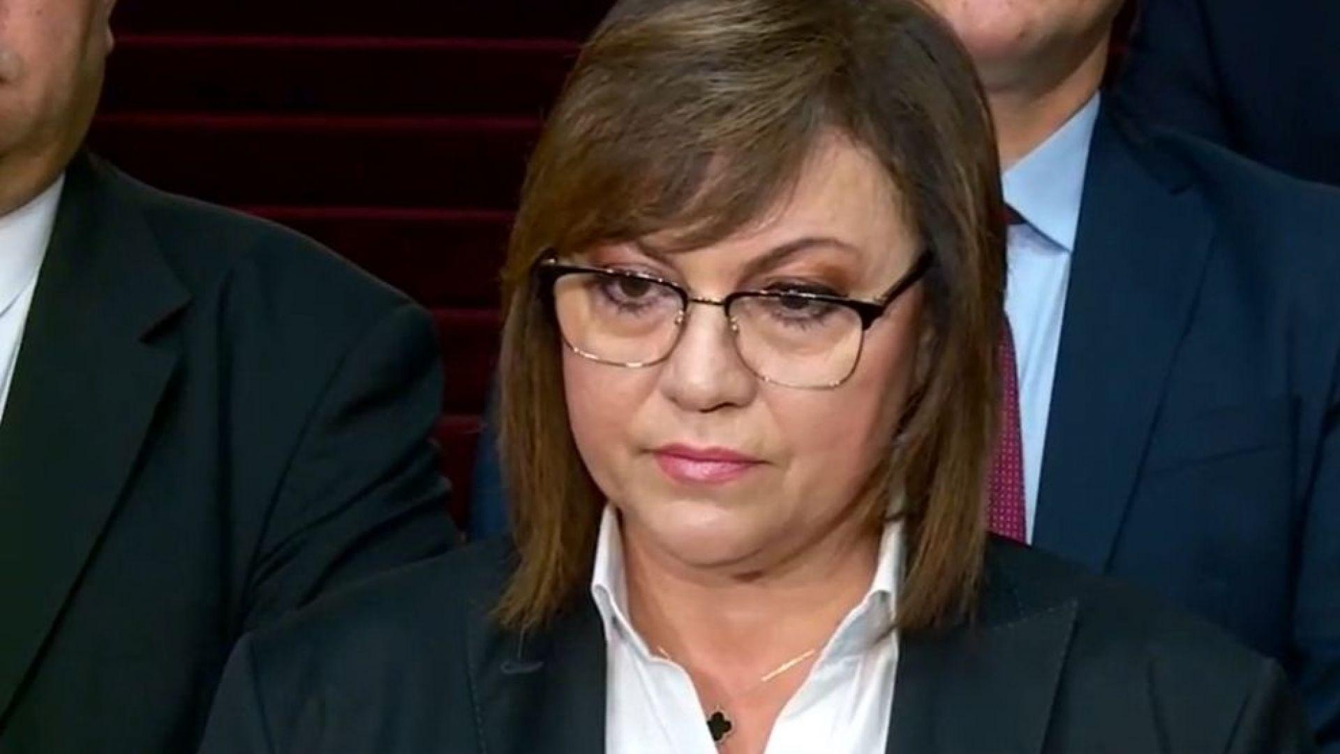 Нинова критикува служебния кабинет: Министри се занимават с партийно строителство
