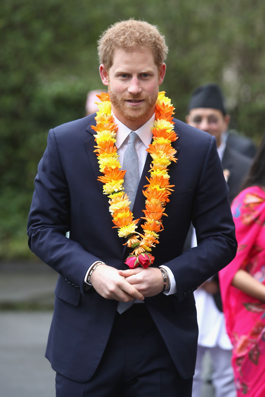 Принц Хари по време на посещение в Непал