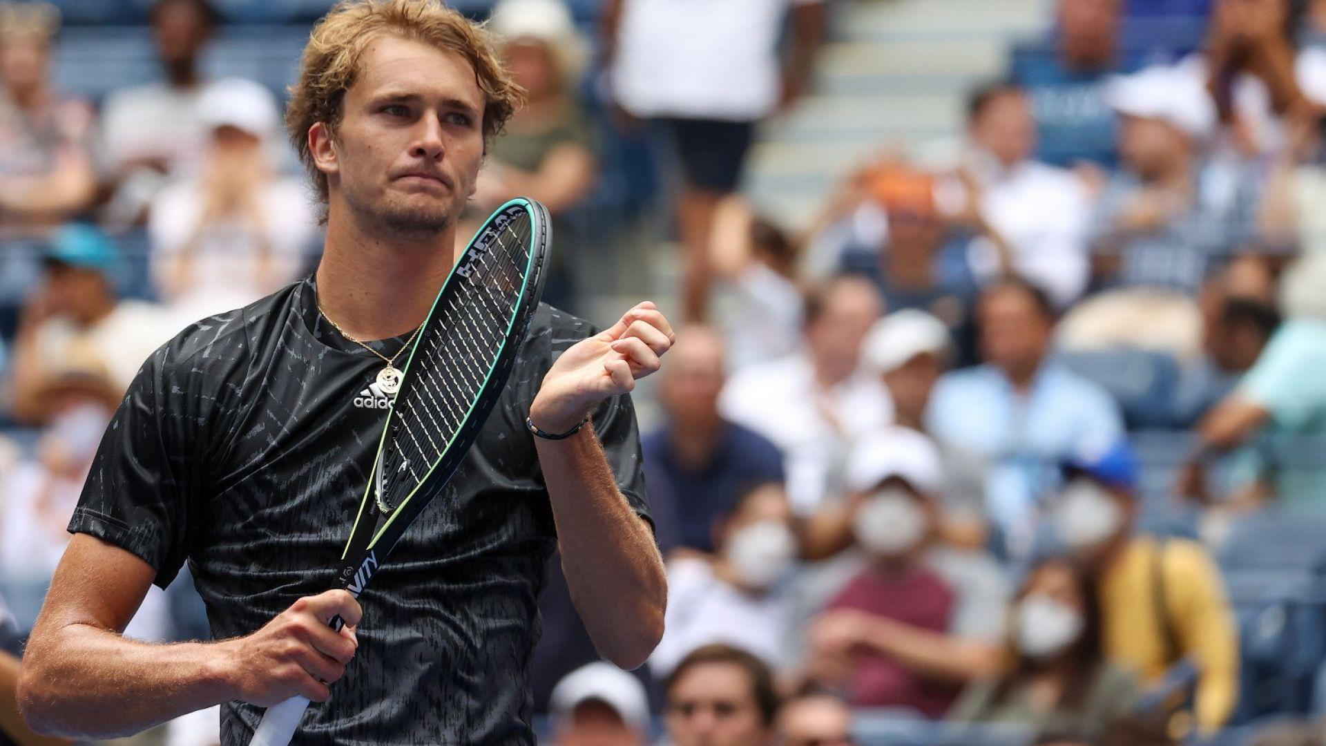 """Зверев """"вдигна мерника"""" на Джокович още след първата си победа на US Open"""
